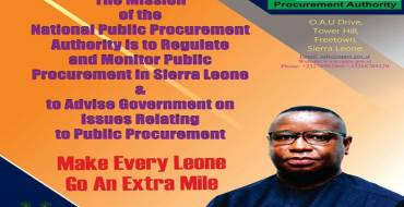 Public procurement in Sierra Leone